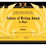 WIC Culture of Writing Award