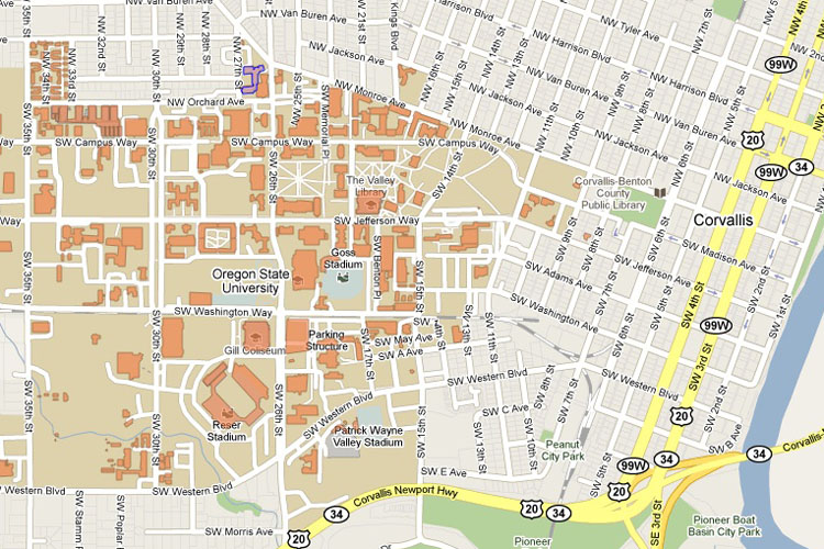 Visitor Information OSU Electron Microprobe Laboratory - Oregon state map in usa