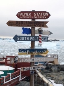 Directions to various Antarctic bases