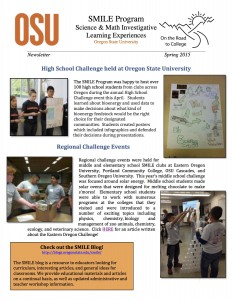 SMILE SPRING 2015 Newsletter