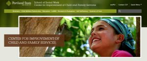 Portland State School of Social Work Center for Improvement of Child and Family Services  Home - Mozilla Firefox 8162016 23838 PM