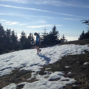 Sunny Saturday morning hike in the remaining snow