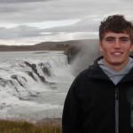 Tor Benson exploring Iceland's waterfalls
