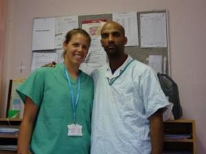 Ashley Wood with an orthopedic nurse