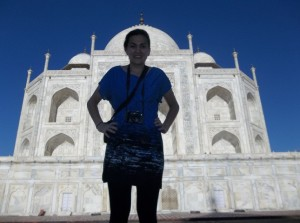 Marissa at the Taj Mahal