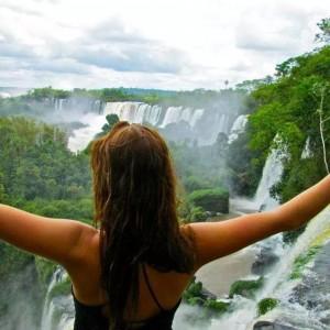 AHA student at Iguazu falls