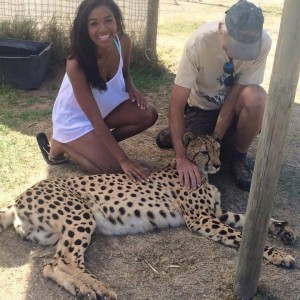 Petting a Cheetah at the Animal Sanctuary