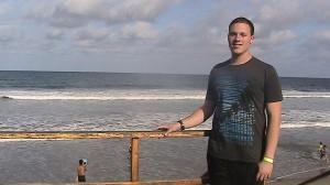 Wes near the beach