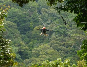 Ziplining over the cloud forest!