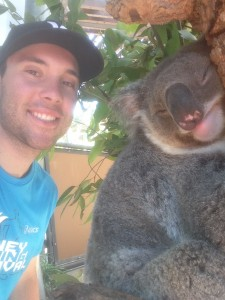 Elliot with a native koala
