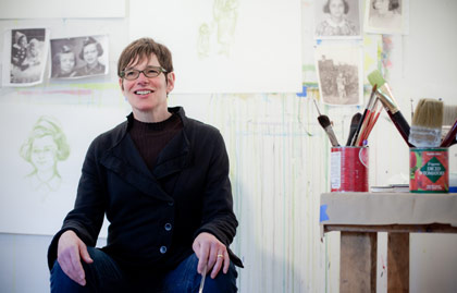 As her family grew and endured a health crisis, Shelley Jordon underwent her own transformation from still-life painter to animation artist. (Photo: Jan Sonnenmair)