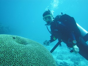 Jake Tepper wants to find a way to reverse the decline of coral reefs around the world. (Photo courtesy of Jake Tepper)