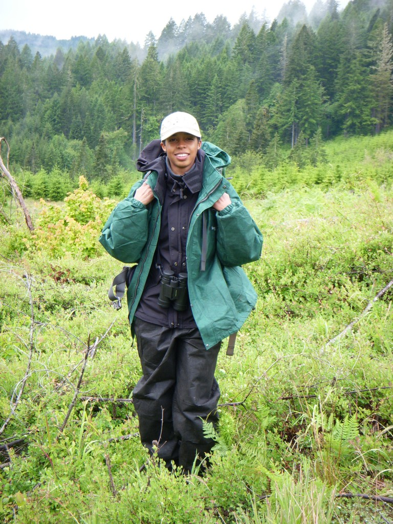 Kristin Jones studies northern house wrens in the Oregon Coast Range.