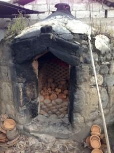 A kiln for firing pottery in La Victoria, Ecuador.