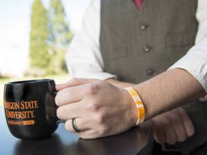 Silicone wristbands can adsorb chemical pollutants. (Photo: Stephen Ward)