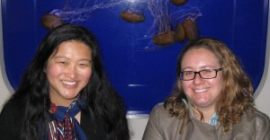 Ph.D. student Jessica Luo and post-doctoral researcher Kelly Robinson bring their expertise in jellyfish to OSU's Plankton Lab. (Photo by Lee Sherman)