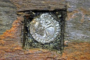 Archaeologists discovered a silver French coin embedded in the keel of the Newport Ship.