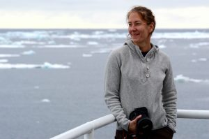 Laurie Juranek served as chief scientist on the Sikuliaq research cruise (Photo: Kimberly Kenny)