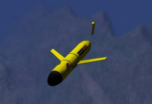 Underwater gliders like this are patrolling Oregon's coastal waters. (Illustration courtesy of the College of Earth, Ocean, and Atmospheric Sciences)