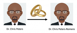 A researcher gets married and changes his name