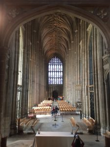 The Canterbury Cathedral is truly a peaceful place! We were there during the midday prayers, and everyone stood still and quietly, even if they had different personal beliefs. It was beautiful.