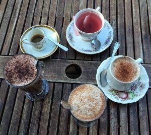 We loved the adorable china at Café Bella Maria!