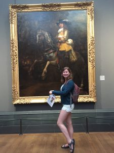 Horsing around at the National Gallery.