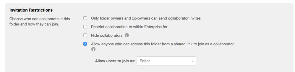 Folder Restrictions
