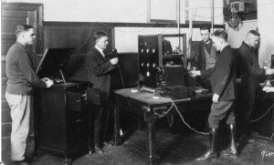 This is when making a radio signal was called radiophysics at OSU