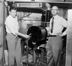 This is the cyclotron, which was the technology that preceded nuclear reactors