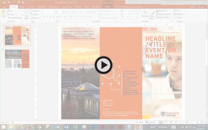designing with powerpoint oregon state university brand guidelines, Modern powerpoint