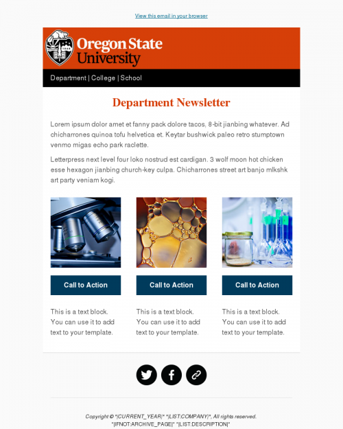 simple email templates university marketing