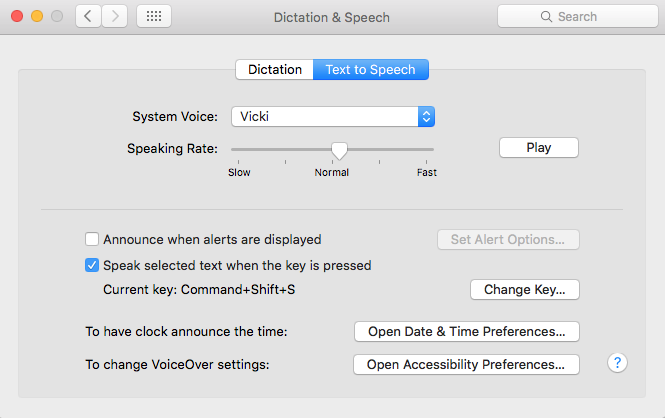 Text-to-Speech Window