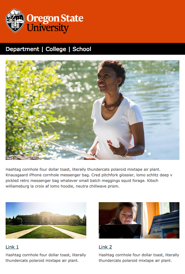 email templates oregon state university brand guidelines archives, Modern powerpoint