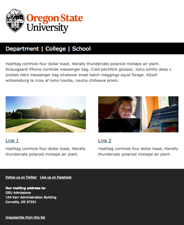 email templates oregon state university brand guidelines archives, Presentation templates