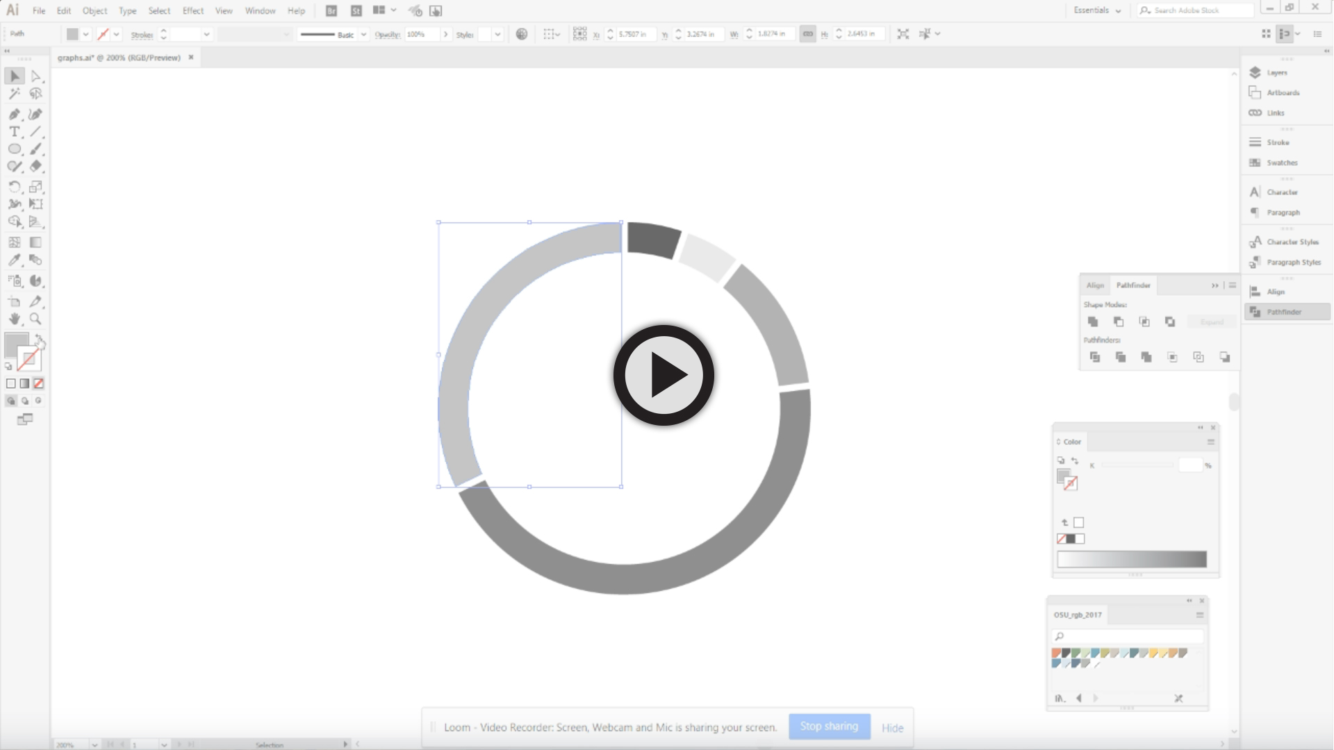 Creating Osu Branded Pie Graphs In Adobe Ilrator And Indesign University Marketing