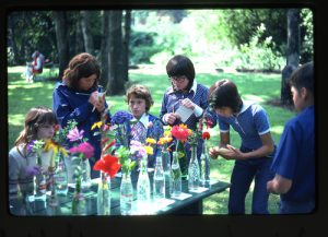 4-H flower identification contest, circa 1975