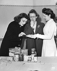 Tasting soy foods, circa 1945