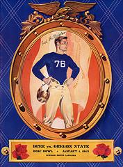 1942 Rose Bowl Program Cover