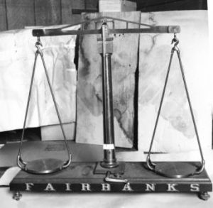 Fairbanks scales in Old Marion County Courthouse