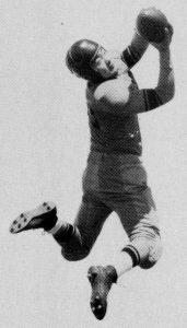 Jack Yoshihara catching a football