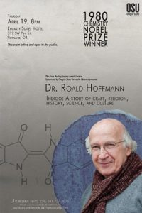 """Indigo – A Story of Craft, Religion, History, Science and Culture,"" free public lecture by Dr. Roald Hoffmann"