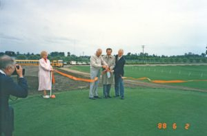 Ribbon cutting ceremony, 1988