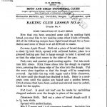 Baking Club Lesson 2 (1916)