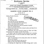 Baking Club Lesson 8 (1916)
