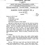 Baking Club Lesson 9 (1916)