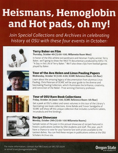 Heismans, Hemoglobin, and Hot pads - oh my! - Special Collections