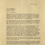 Lattin to Coussement letter, 1967