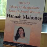 Hannah Mahoney award poster