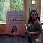 Hannah Mahoney, award winner